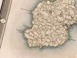 Old Cornwall Map Greenwood Detail