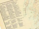 Old Railway Map Scotland area