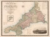 Old Cornwall Map Greenwood