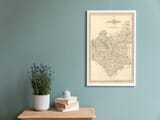 Framed Map of Leicestershire
