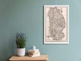 Old Framed Map Lincolnshire