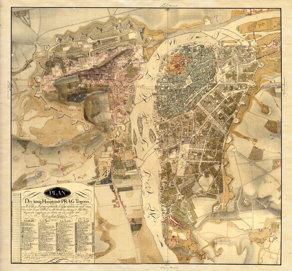 Old Prague Map