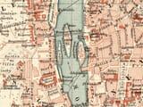 Detail from old Prague town plan