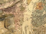 Detail from early map of prauge