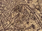 Old Map of Rome Close Up