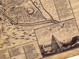 Old Map of Rome Detail