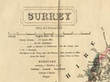 Surrey Detail from old railway Map