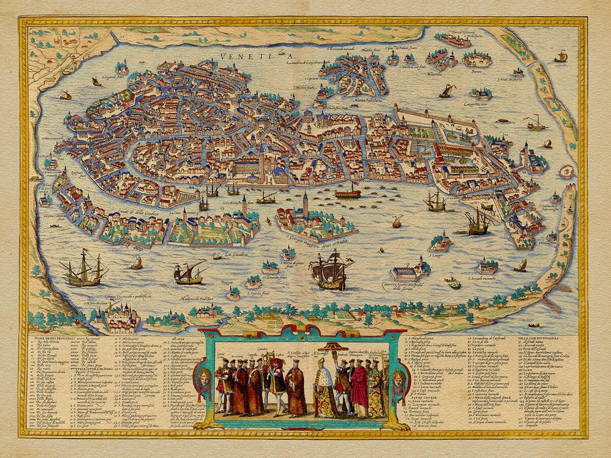 Old Venice Map