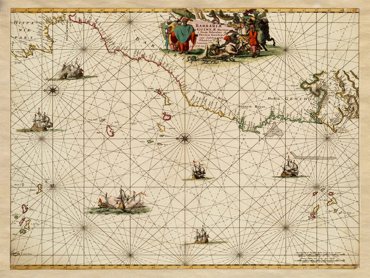 Antique Sea Chart