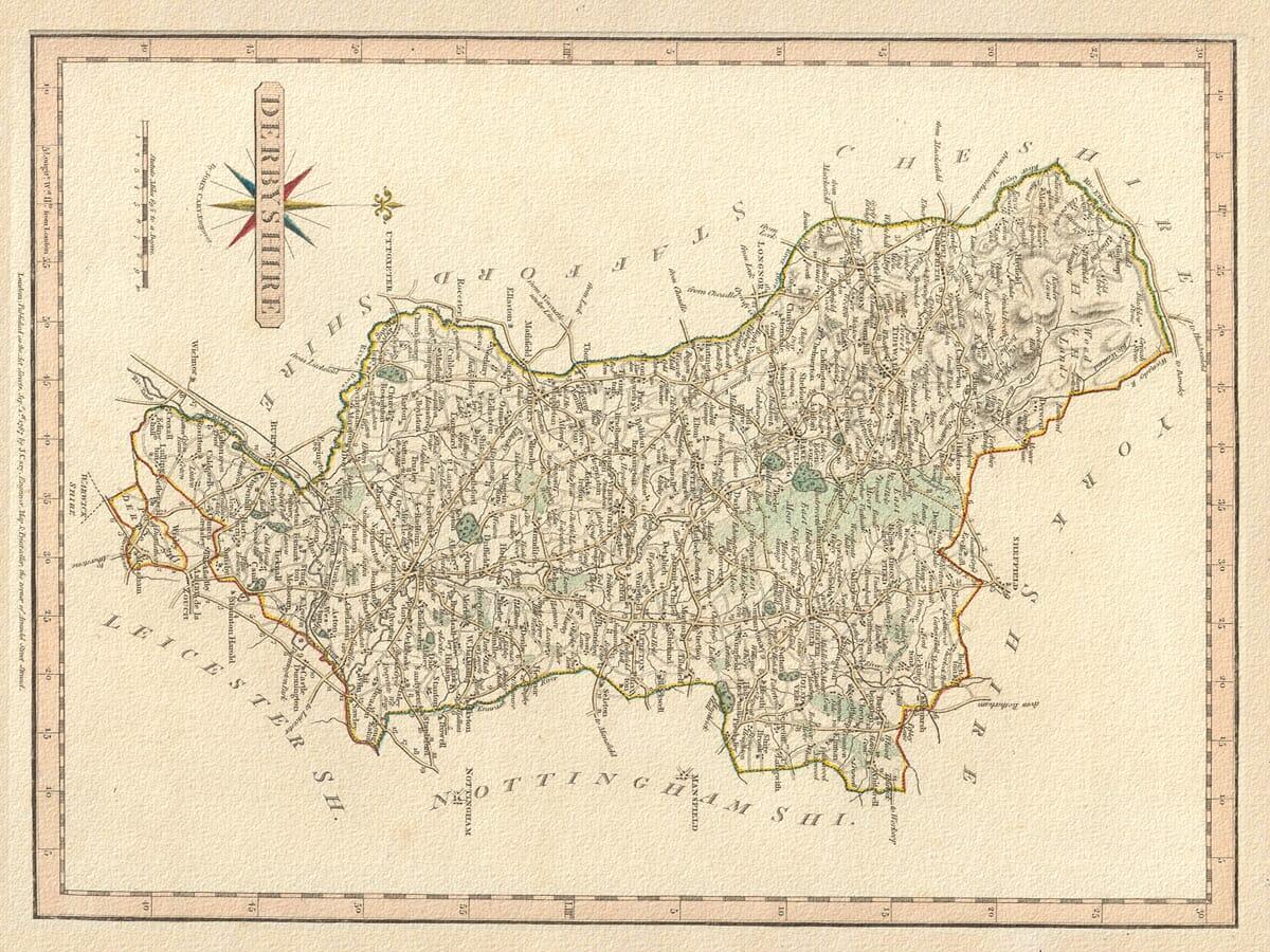 Old Carey Derbyshire Map