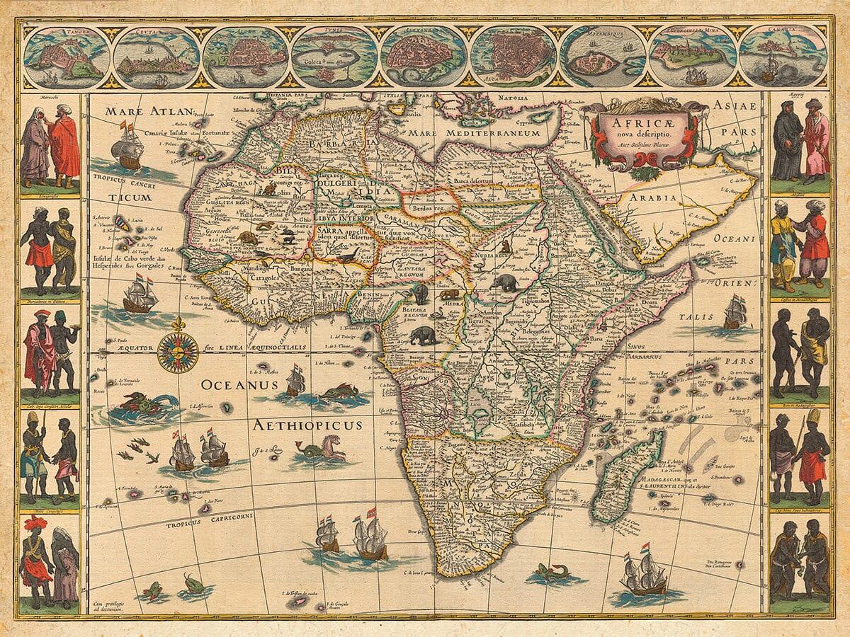1644 blaeu africa map