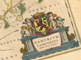 Old Belgium Map Detail