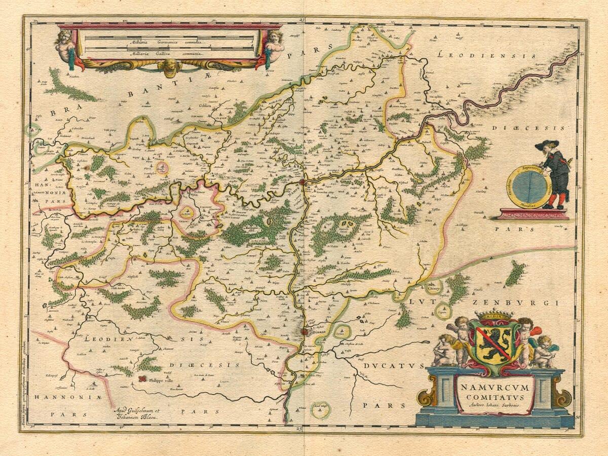 Old Belgium Map