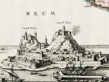 Detail from an old map of Corfu