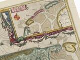 Old Map Holland Netherlands Detail