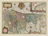 Old Holland Netherlands Map