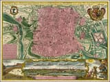 Old Map of Madrid