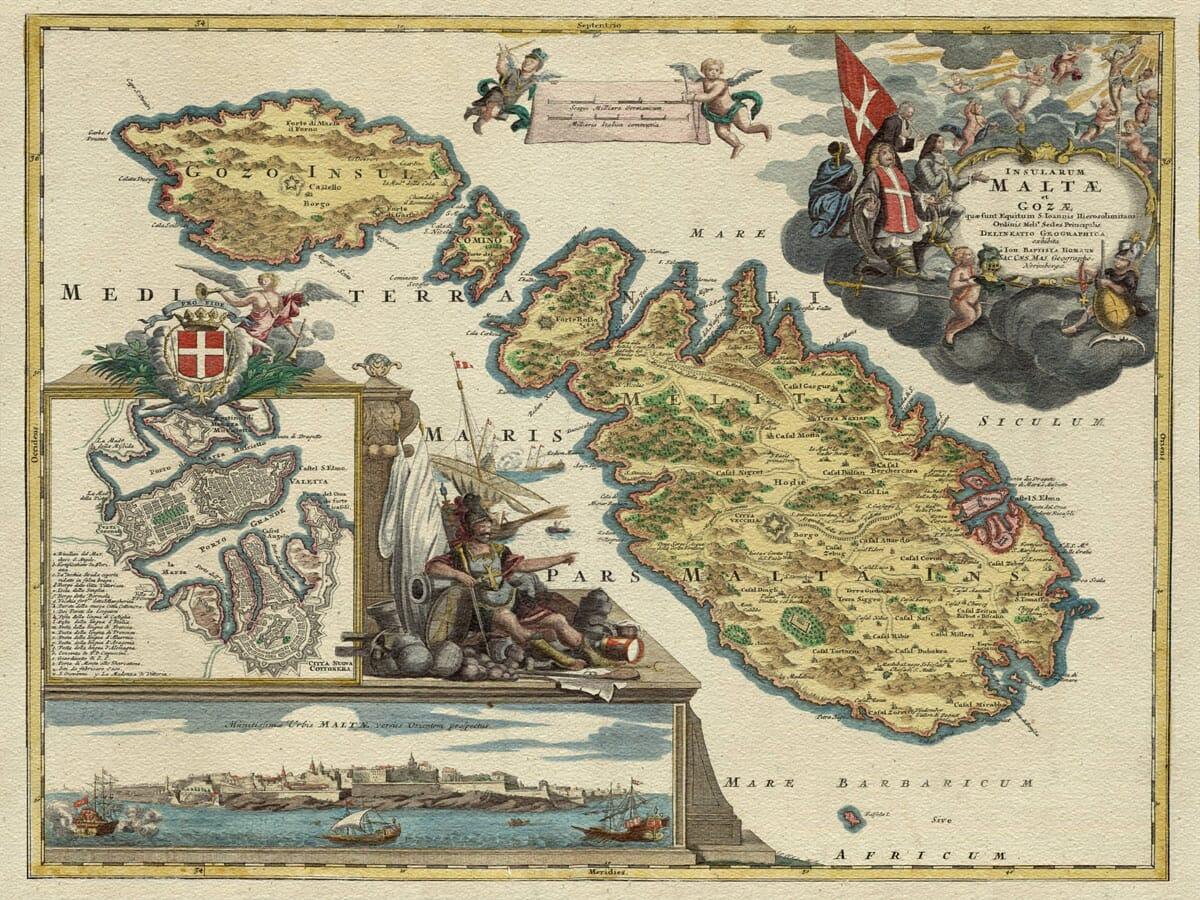Old Map Malta