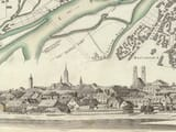 Detail from old Munich Map