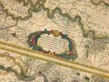 Old Map River Rhine Detail