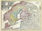Old Scandinavia Baltics Map