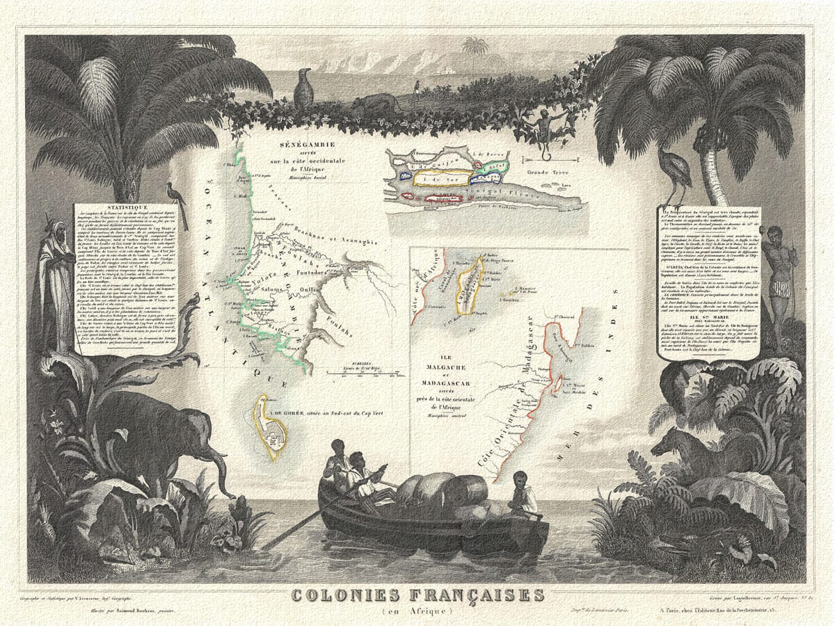 Old Senegal Map
