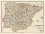 Old Spain Portugal Map