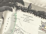 Old Senegal Map Detail