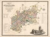 Old Map of Gloucester