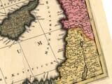 Large map of Mediterranean enlarged detail