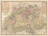 Old Map of Switzerland