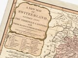 Detail from old map of Switzerland
