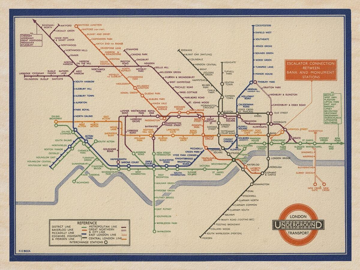 old-underground-map