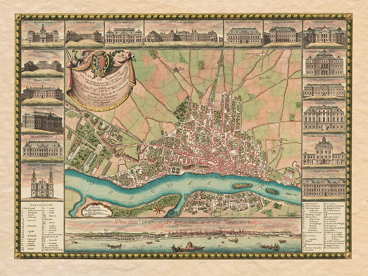 old map warsaw