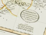 pakistan vintage map detail