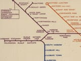 Old Underground Map detail