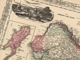 detail from an old map of india