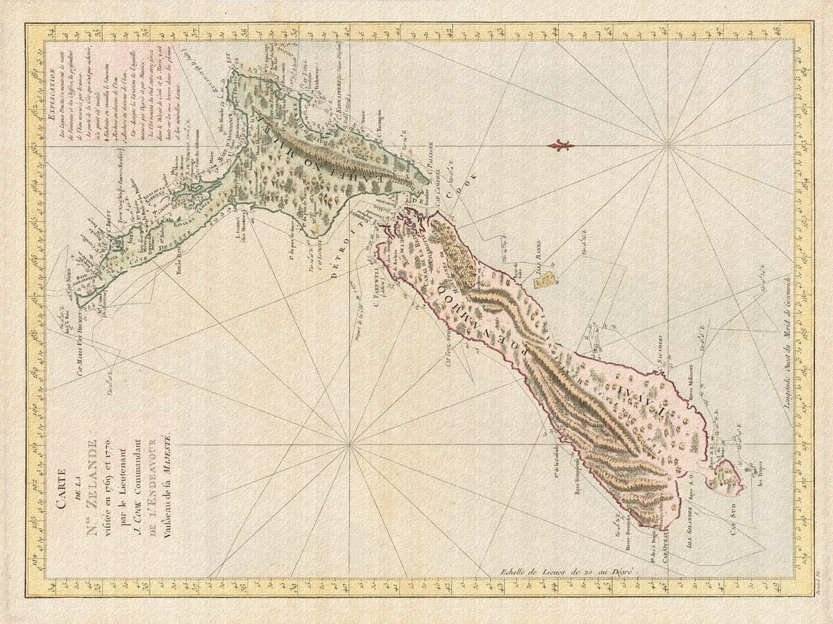 new zealand cook map
